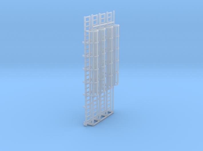 1:100 Cage Ladder 80mm Platform 3d printed