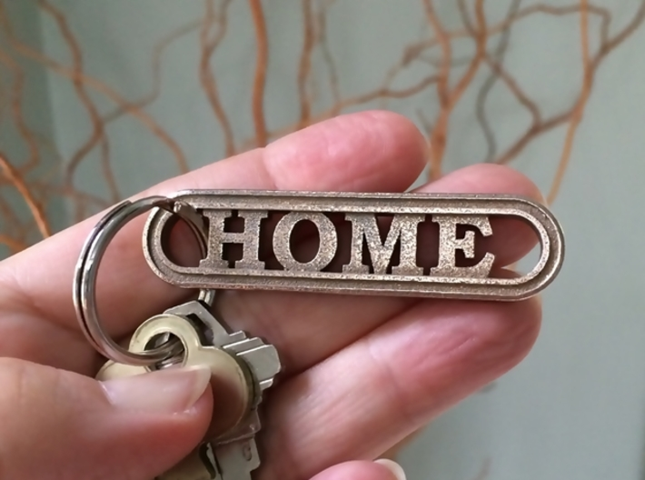HOME Keychain Housewarming Gift 3d printed