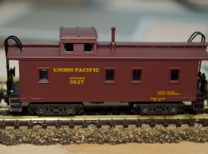 "T58p x8 N offset passenger truck, Caboose, Overton 3d printed From a satisfied customer: ""My first OWR&N CA with your wonderfully designed trucks!"""