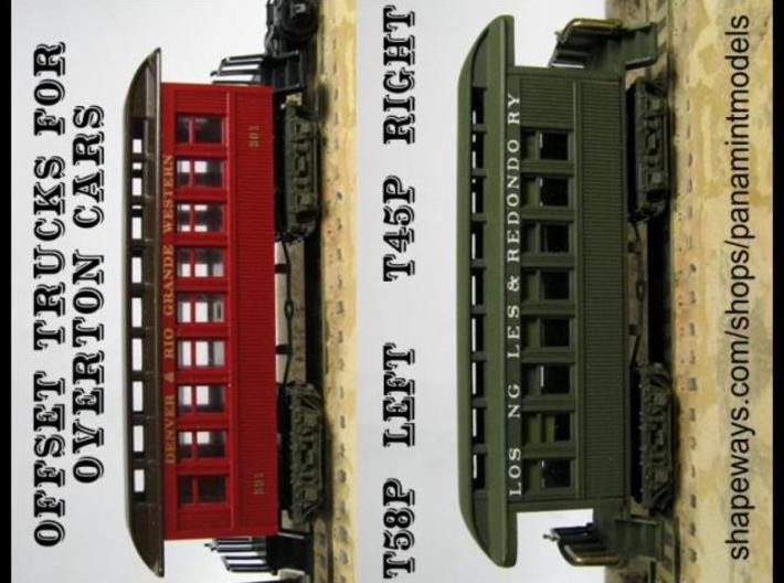 T58p x16 N scale trucks offset hole w/pins 3d printed