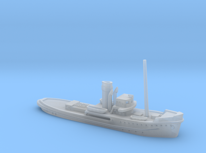1/600th scale Shkval soviet tug boat 3d printed