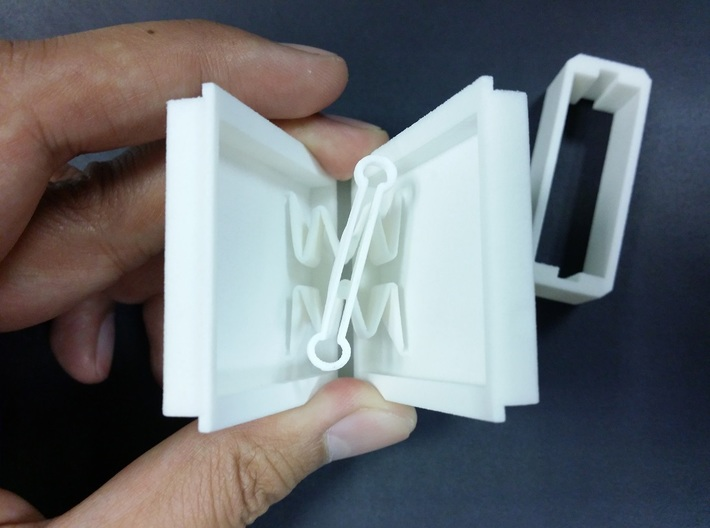 Ultra Slim Ring Box with Spinning Ring Feature 3d printed Ring holder can accommodate a band width of about 4mm.