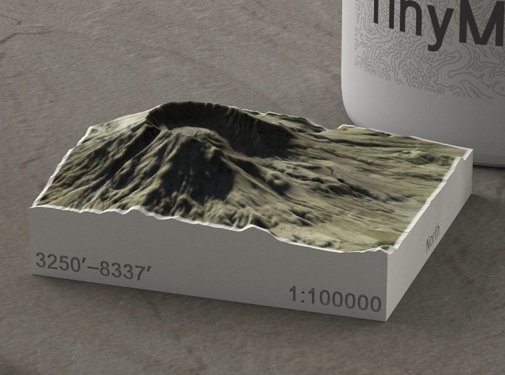 Mt. St. Helens, Wash., USA, 1:100000 Explorer 3d printed