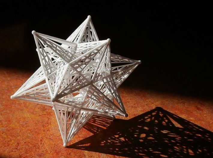10 cm Small Stellated Dodecahedron 3d printed