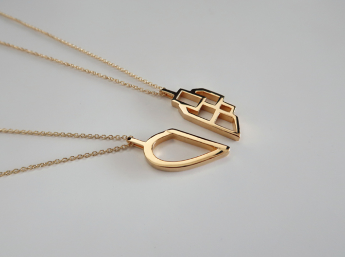 Better Together 3d printed 14k plated Gold