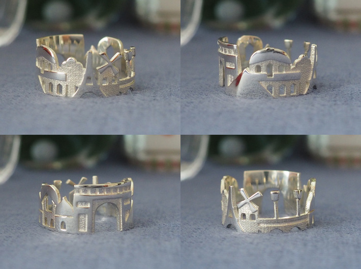Paris Cityscape - Skyline Ring 3d printed