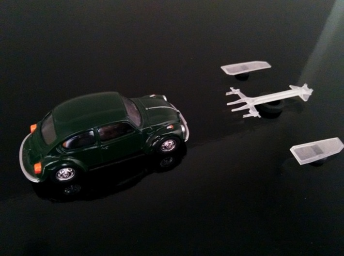 Chassis Cox / Beetle (3 inches) 3d printed