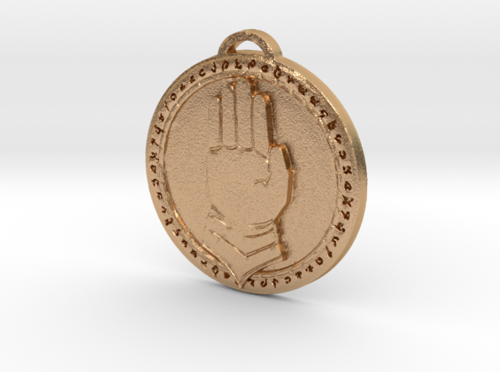 Silver Hand Faction Medallion 3d printed