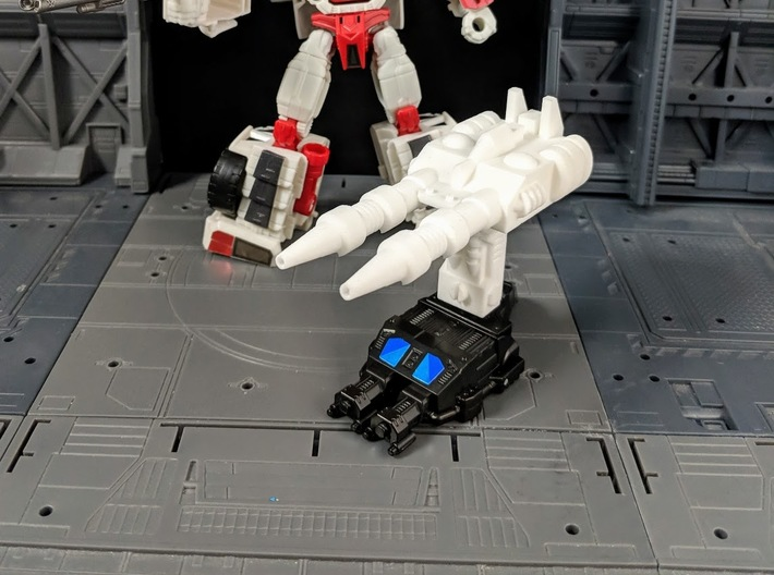 TF Combiner Wars Streetwise Car Cannon 3d printed Combined with Adapter and Hand/Foot Accessory