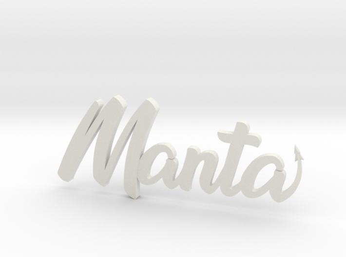 Manta Buggy Badge 3d printed