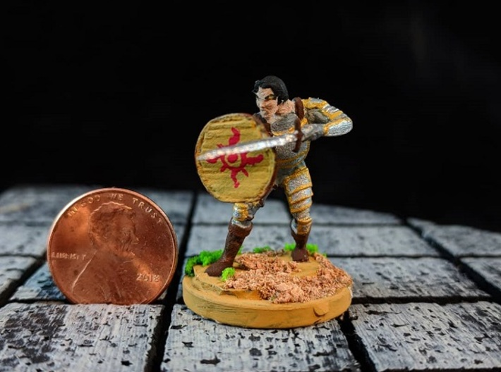 Knight Errant 3d printed Example of this model hand painted with a modified base.