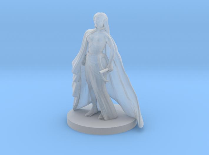 Elf Female Ranger with Blowgun 3d printed