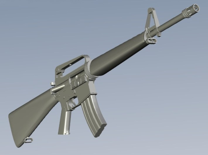 1/20 scale Colt M-16A1 rifles x 5 3d printed