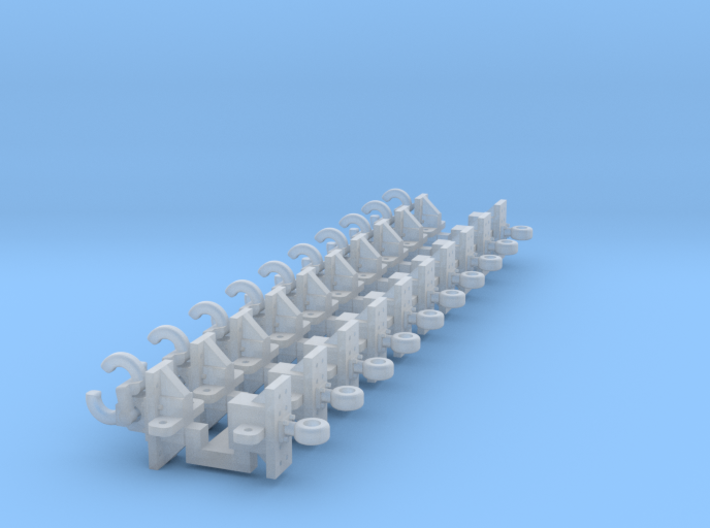 Pintle Hitch V2 & Trailer Hitch 10 Pack 1-87 HO Sc 3d printed