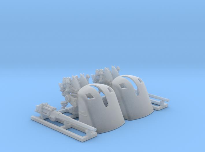 1/150 German 8.8cm L/45 MPL C/13 Guns x2 3d printed 1/150 German 8.8cm L/45 MPL C/13 Guns x2