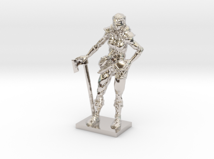 Female Warrior 3d printed