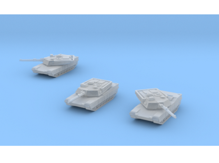 Abrams M1A1 1/350 scale set of 3 3d printed The turrets are separate and poseable through 360°