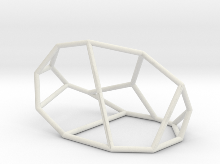 """Irregular"" polyhedron no. 1 3d printed"