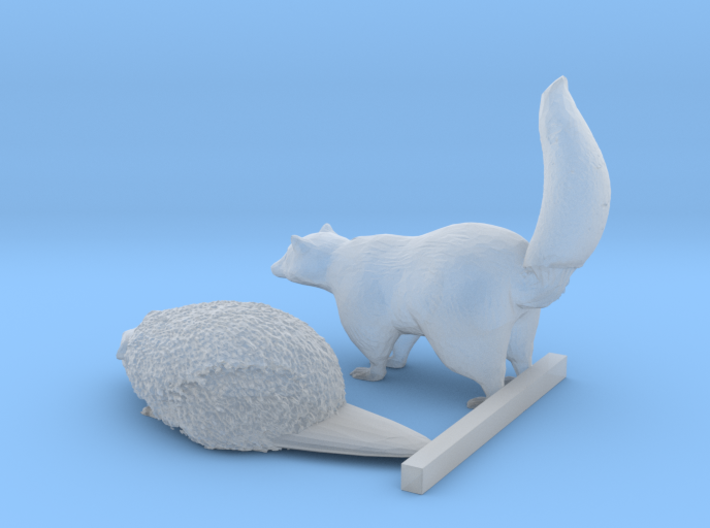 O Scale Woodland Animals 1 3d printed This is a render not a picture