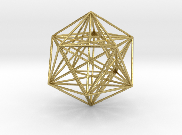 Icosahedron Dodecahedron Nest 3d printed