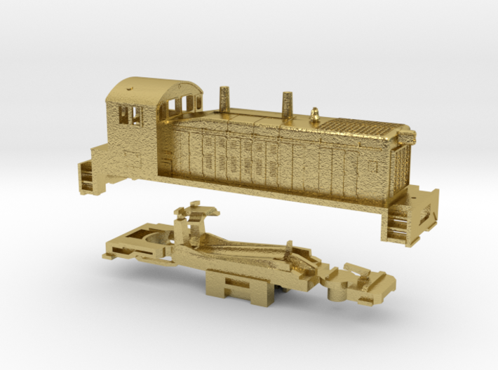 Z Scale EMD TR4 A-Unit (Cow) 3d printed