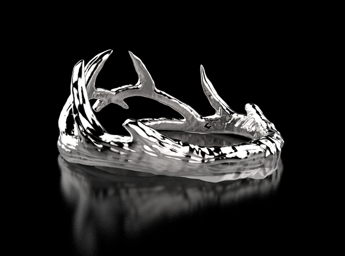 Antler Ring 3d printed