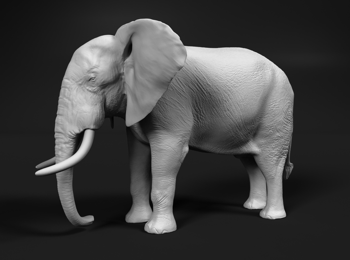African Bush Elephant 1:28 Standing Male 3d printed