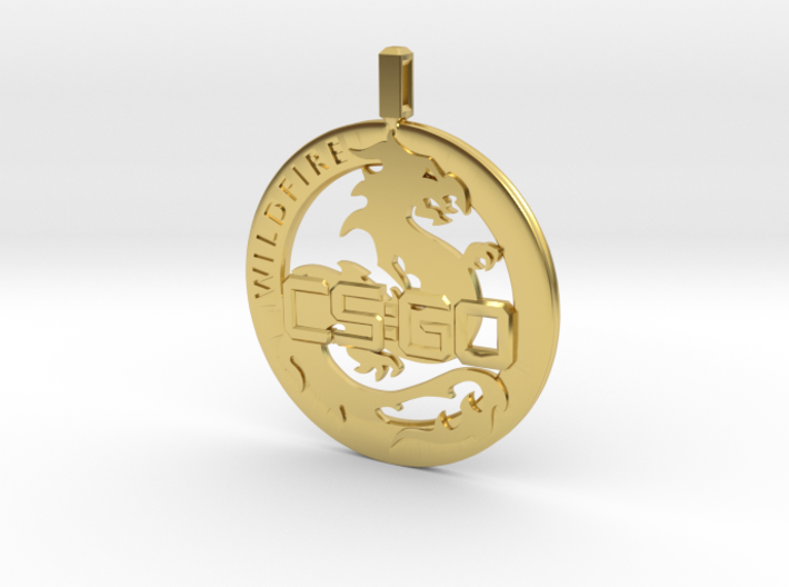 CS:GO - Operation Wildfire Medallion 3d printed