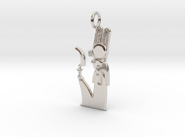 Montu amulet 3d printed