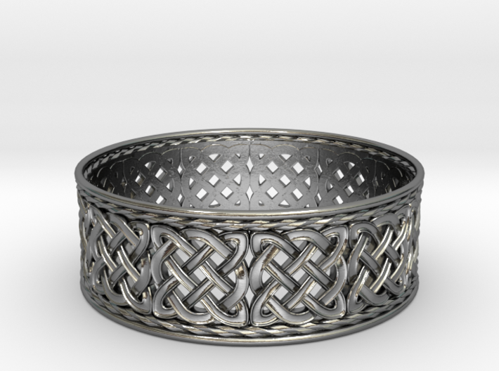 Interwoven Celtic Quad Knot Ring 3d printed