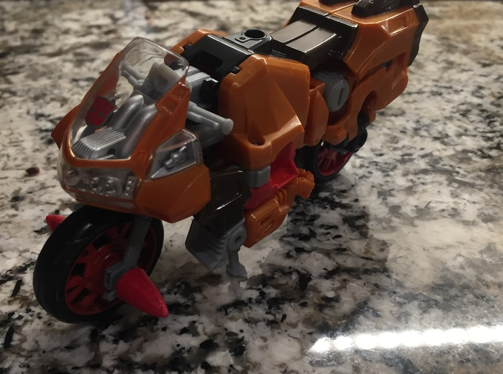 POTP Wreck-Gar Front Wheel Assembly Replacement 3d printed