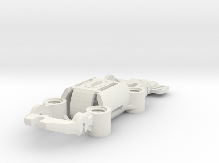 """NEW! HWP-4WD Quad-Traction HO Slot Car Chassis 3d printed 4WD with tunable quad-traction magnets. 1.5"""" fixed wheelbase."""