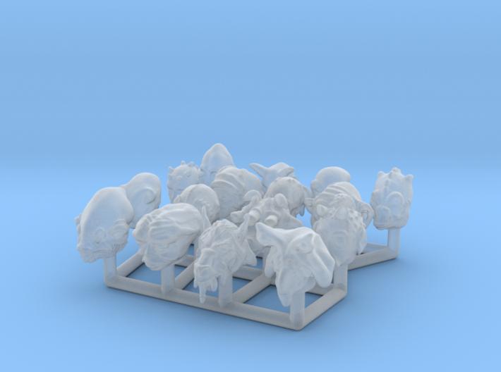 (Legion) Alien Heads Set I 3d printed