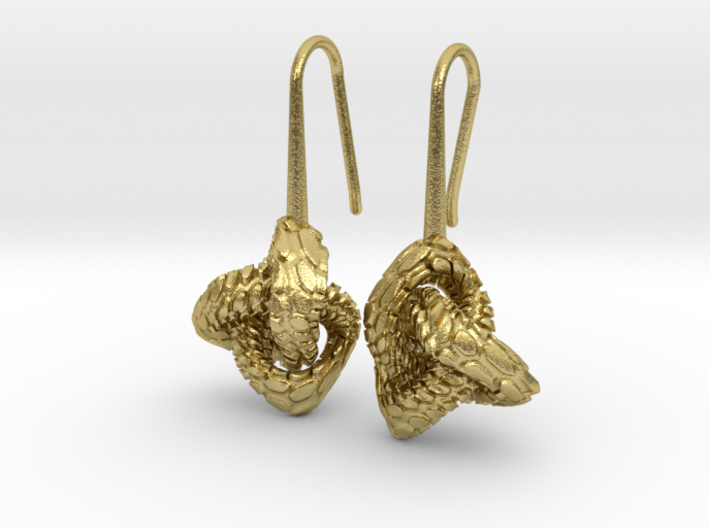 Love Atom Earrings 3d printed