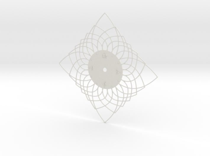 Sunburst Clock - Daphne 3d printed