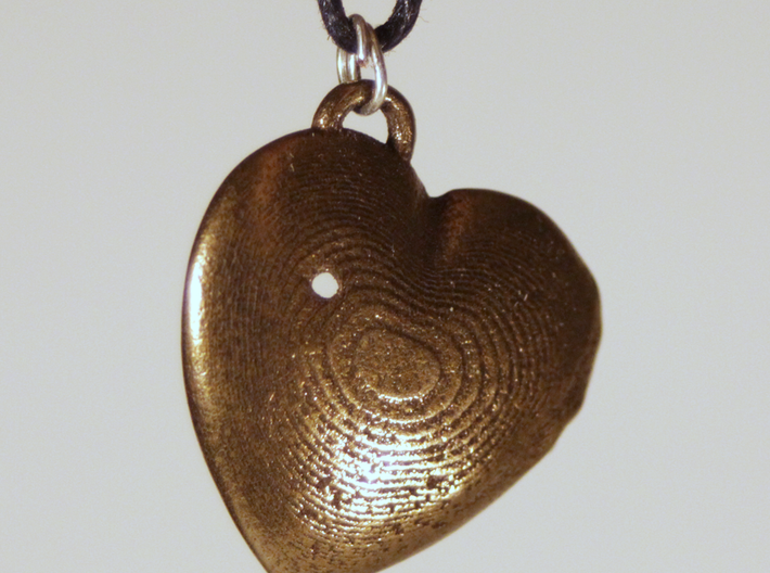 Exit Wound Heart Pendant 3d printed