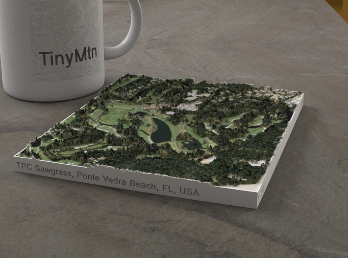 TPC Sawgrass Stadium Course, Florida, USA, 1:10000 3d printed