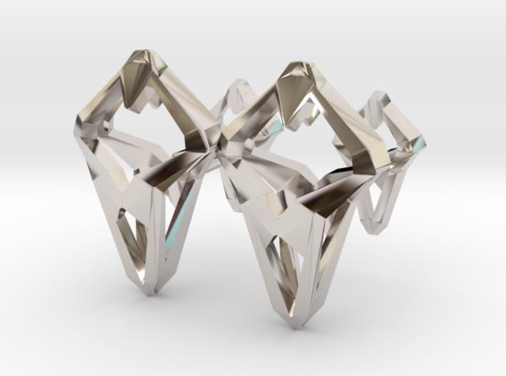 Prototype, Cufflinks. Sharp Chic for Him. 3d printed