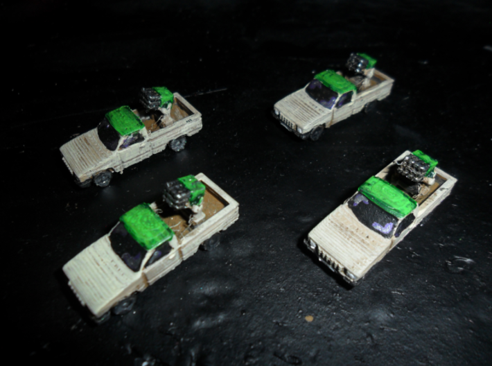 MG144-IR01A Hilux Technical (Type 63) 3d printed Photo of Replicator 2 protoypes