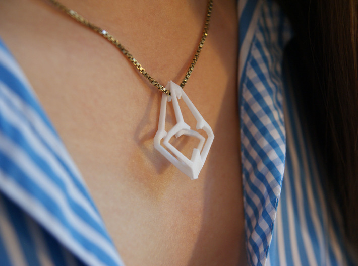 HEART TO HEART Heartron, Pendant 3d printed