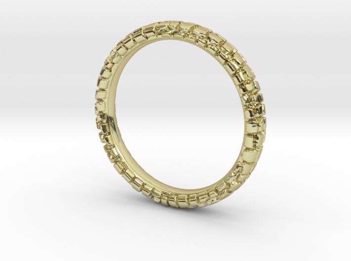 Wedding Ring Street 3 mm 3d printed