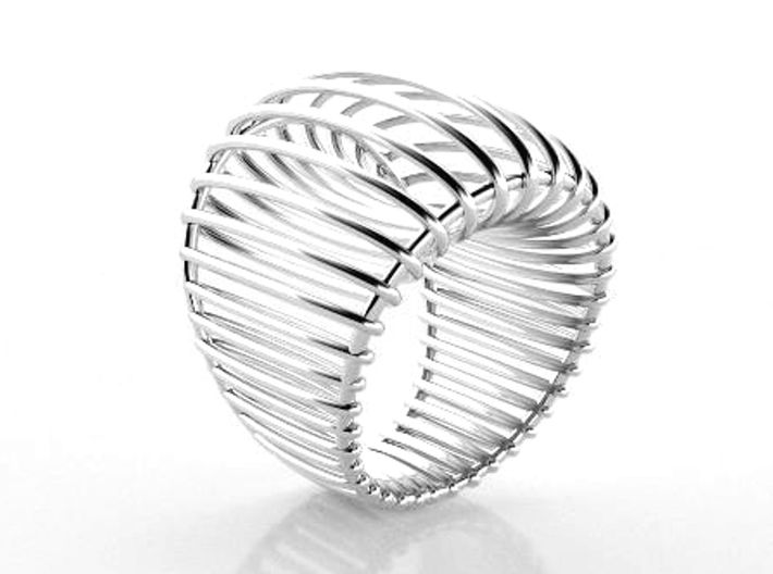 Structure ring. 3d printed Love big ring