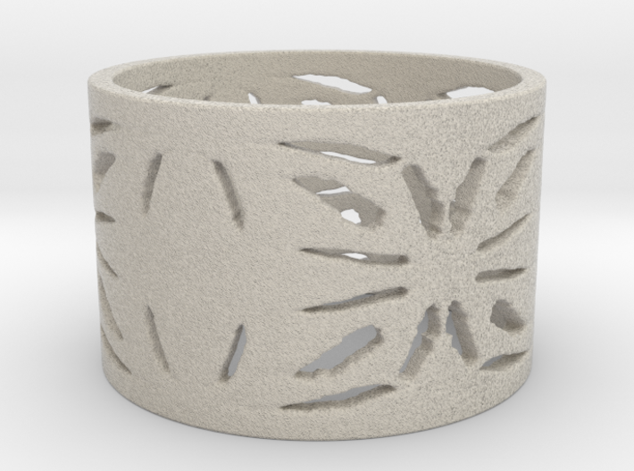 Native Treasure Ring 3d printed