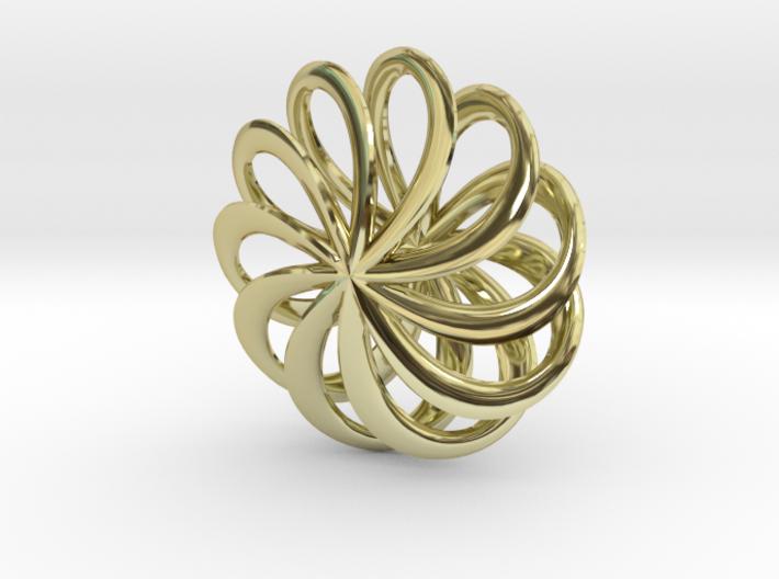 Floral Pinwheel Pendant 65 3d printed