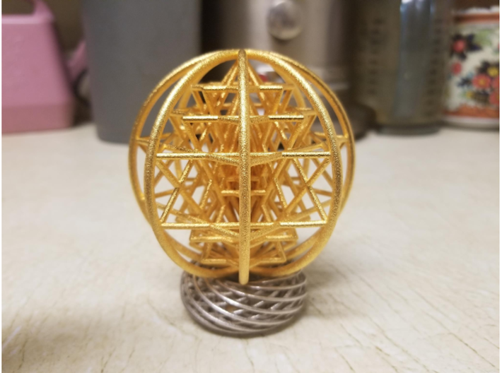 "3D Sri Yantra 8 Sided Symmetrical 3"" 3d printed"
