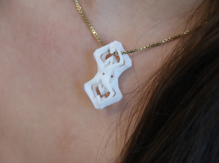 HEART TO HEART Sharp, Pendant 3d printed