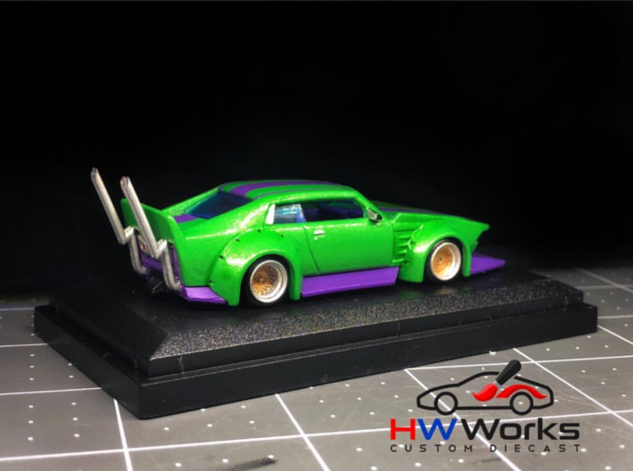 Set of 8 - Bosozuku exhausts HotWheels 3d printed