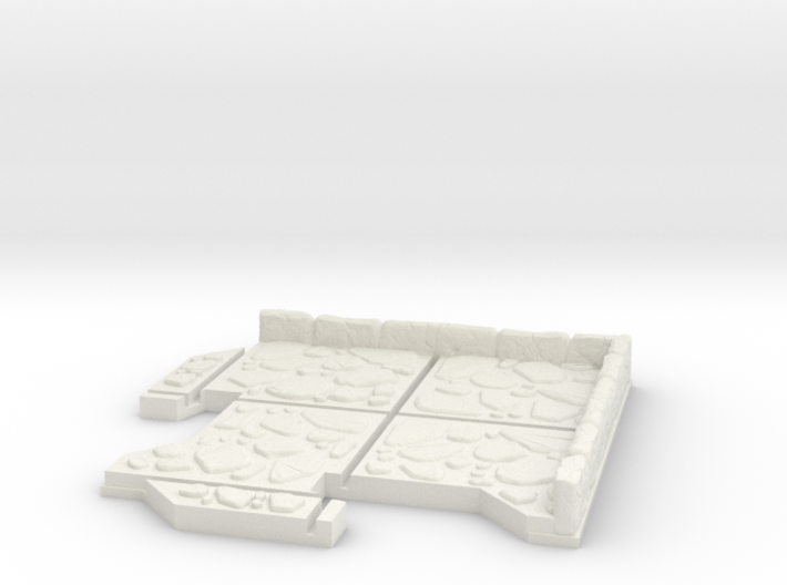 Small Corner Dungeon Tile 3d printed