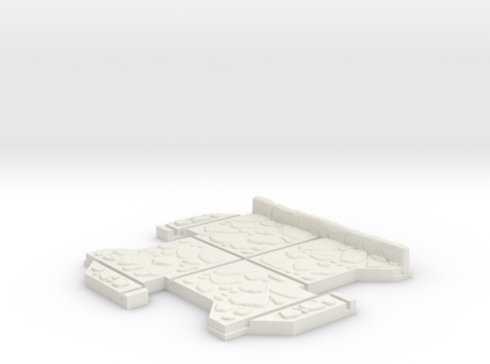 Small 3 way Dungeon Tile 3d printed