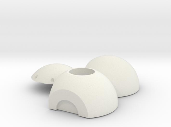 Litening III Optronic Ball Head 3d printed 1/12 Scale Optronic Ball Head for Litening III Targeting Pod